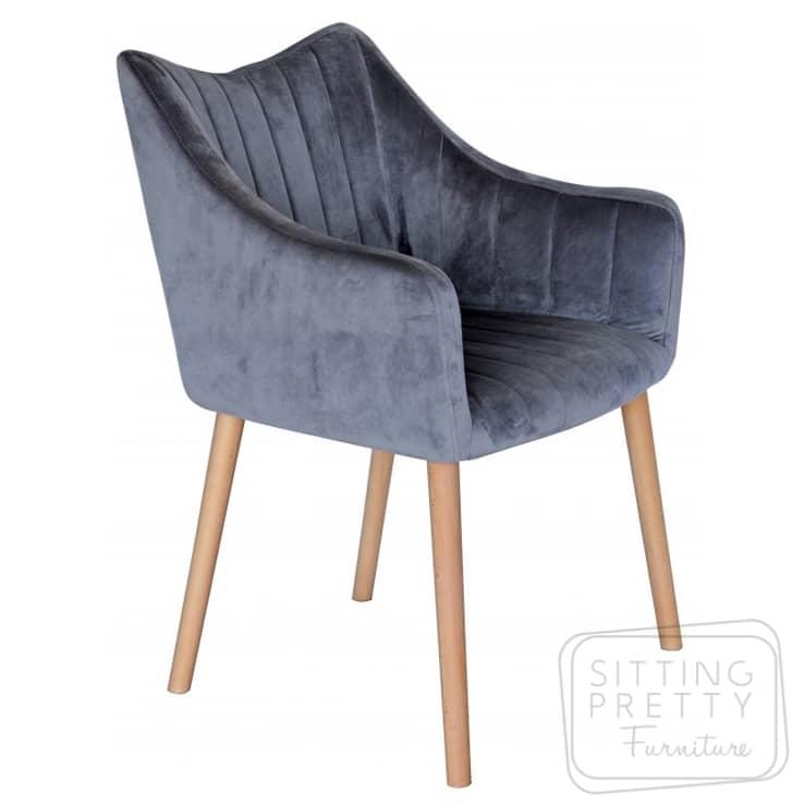 Bermuda Chair – Grey Velvet