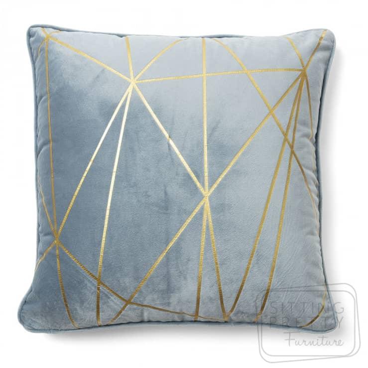 Burton Velvet Cushion – Light Blue by LaForma