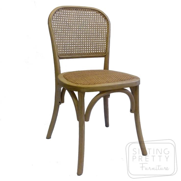 Dunn Elm & Rattan Chair