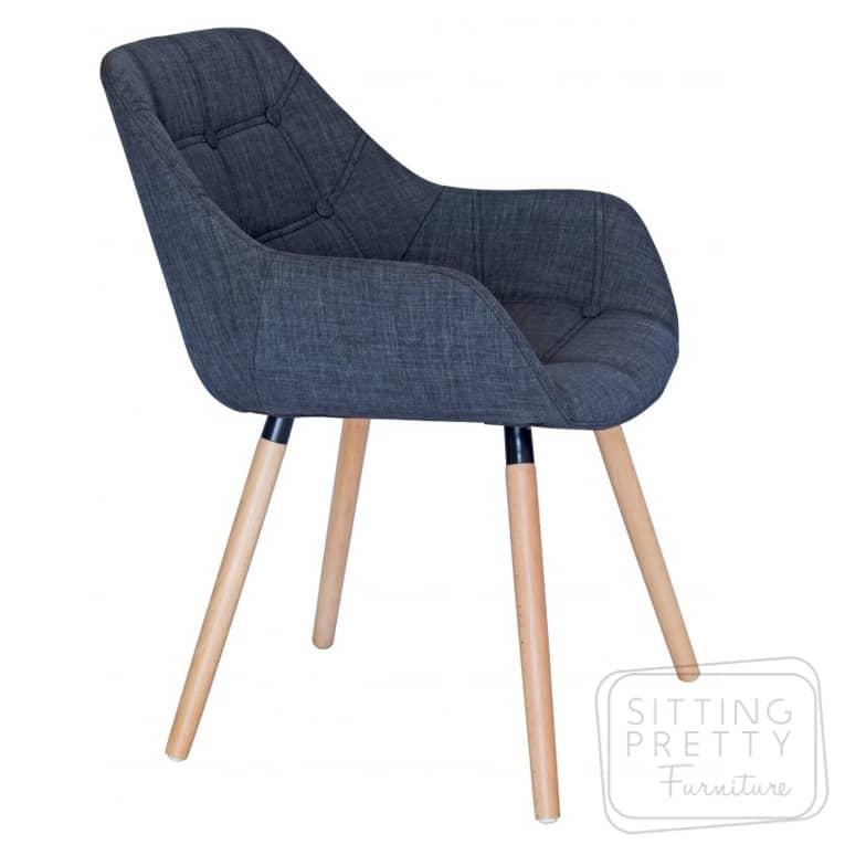 Magnum Chair – Dark Grey with Walnut or Ash Legs