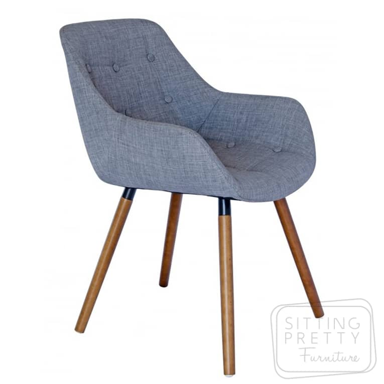 Magnum Chair – Light Grey with Walnut or Ash Legs