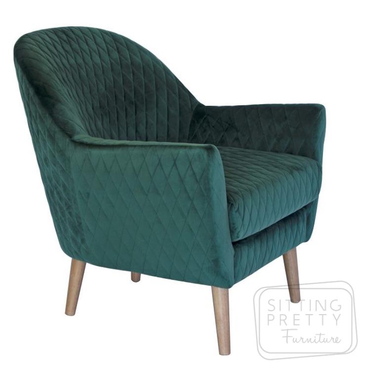 Roxy Velvet Chair – Green