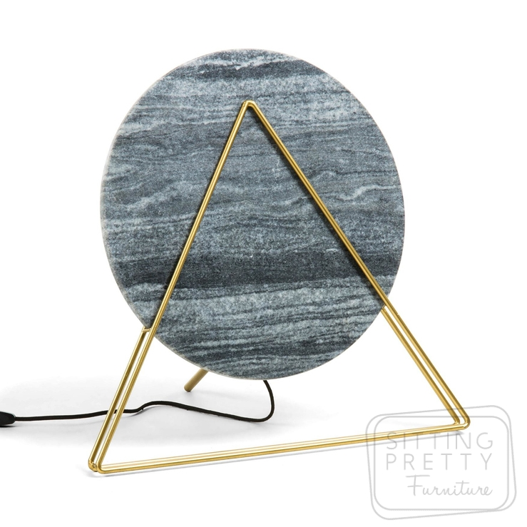 Versus Table Lamp – Black Marble/Brass by LaForma