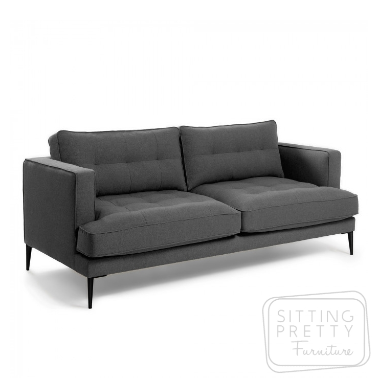 Vinny Three Seater Sofa – Grey by LaForma