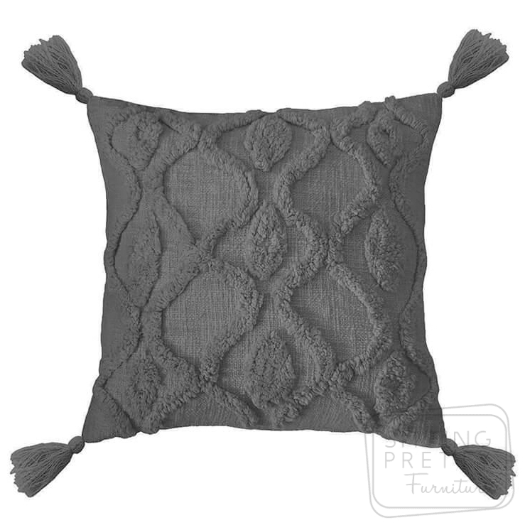 Zoe Cushion – Charcoal by Bambury