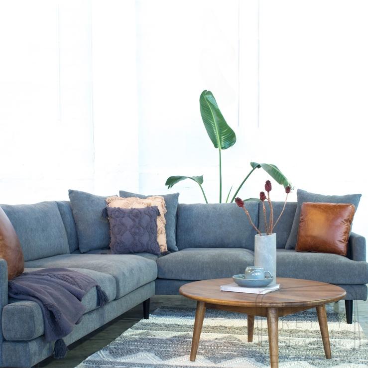 Banco Modular Lounge – Warwick Pepper fabric