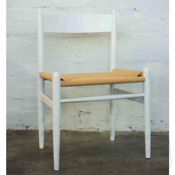 Highback Wishbone Chair – White