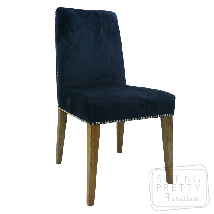 Miranda Velvet Chair – Peacock Blue