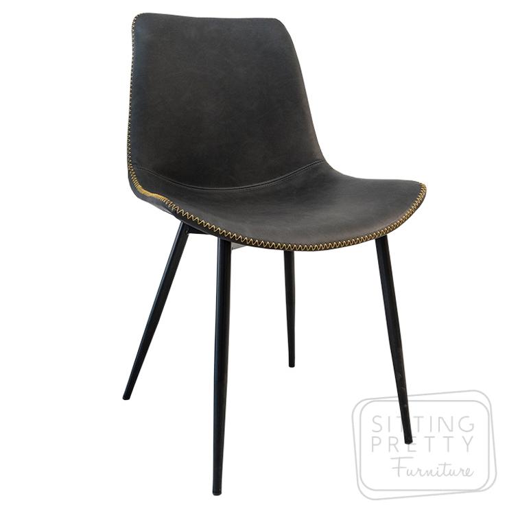 Mendel Chair – Charcoal PU