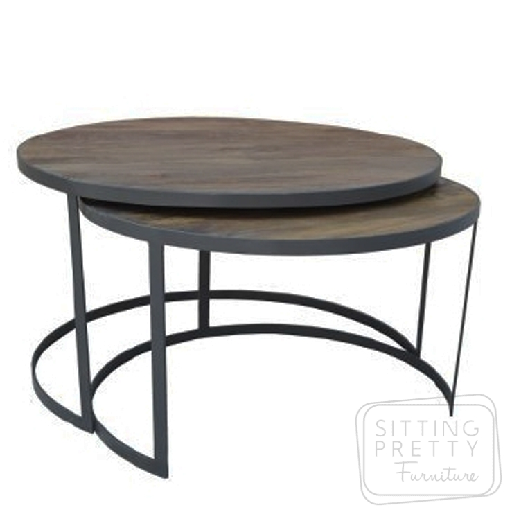 Xabl Round Coffee Table – Set of 2