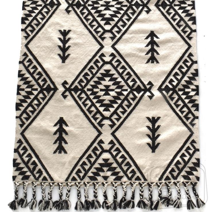 Maleek – Monochrome Wool Rug by Oh Happy Home