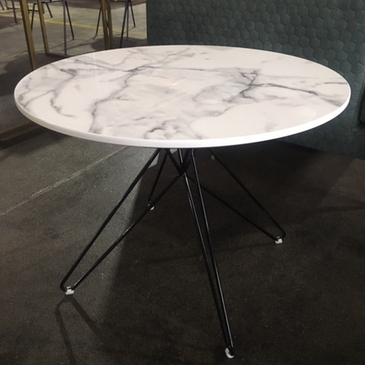 Pepper Sidetable – Faux White Marble