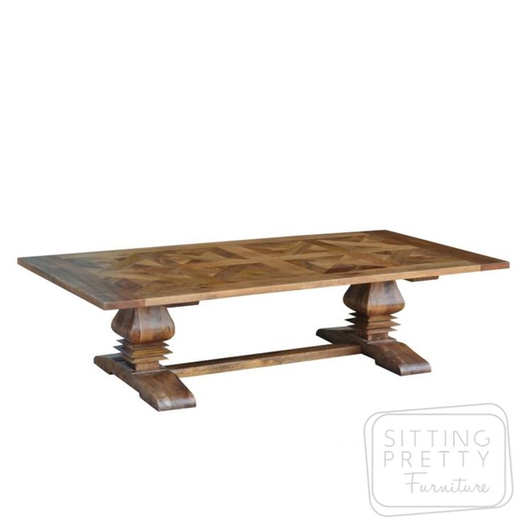 Kensington Parquetry Table – 245cm