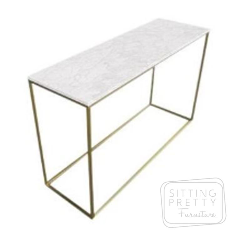 Leonardo Console – Marble/Gold