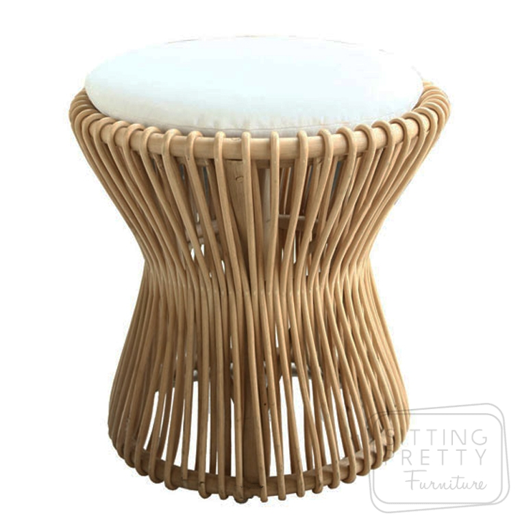 Mushroom Stool – White Cushion