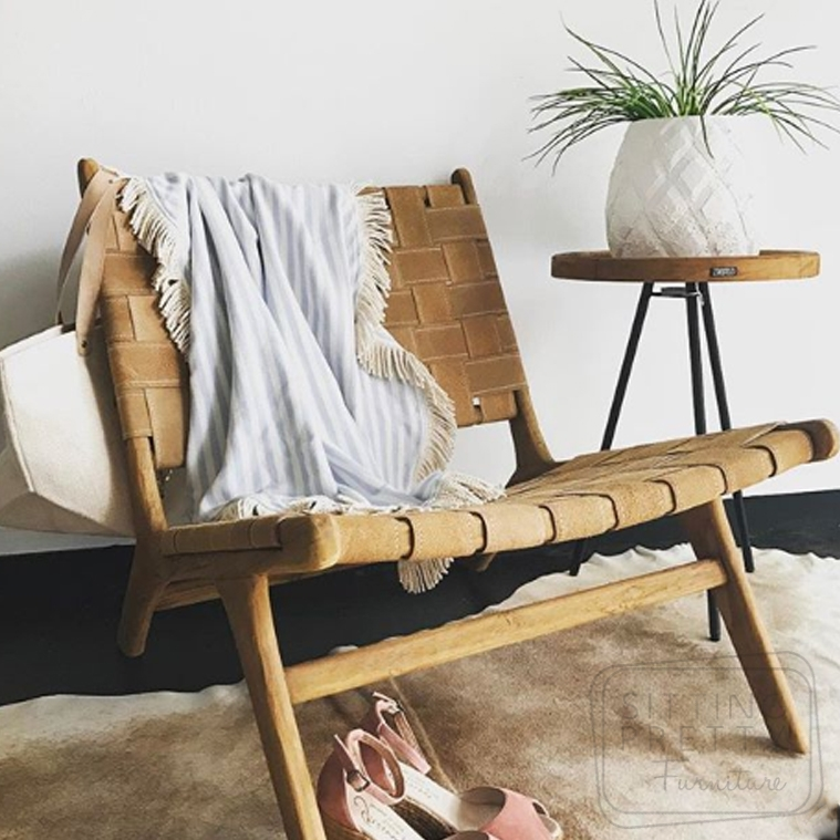 Strap Chair – Fawn Suede