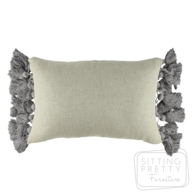 Tassel Cushion – Grey