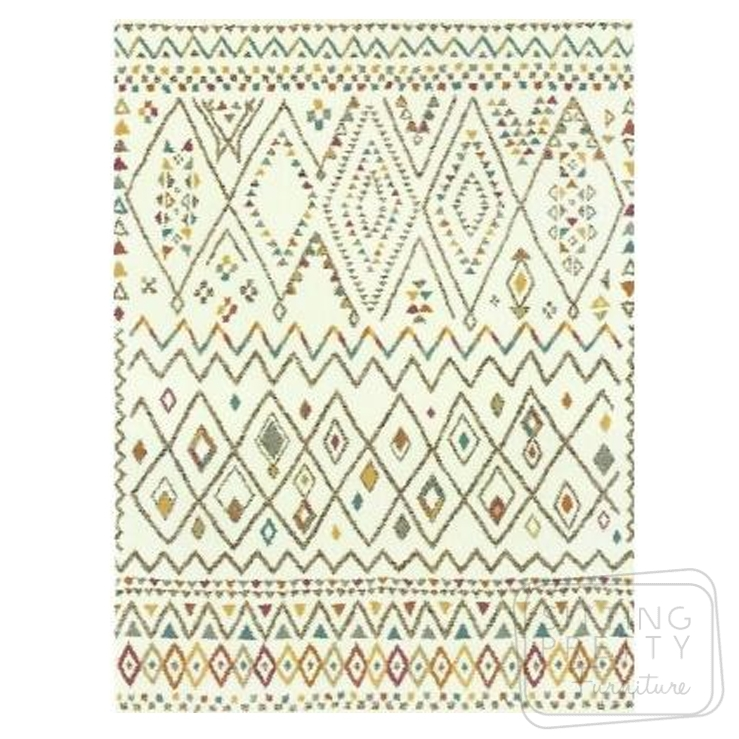 Vision Rug – Multi-coloured Aztec – TWO LEFT