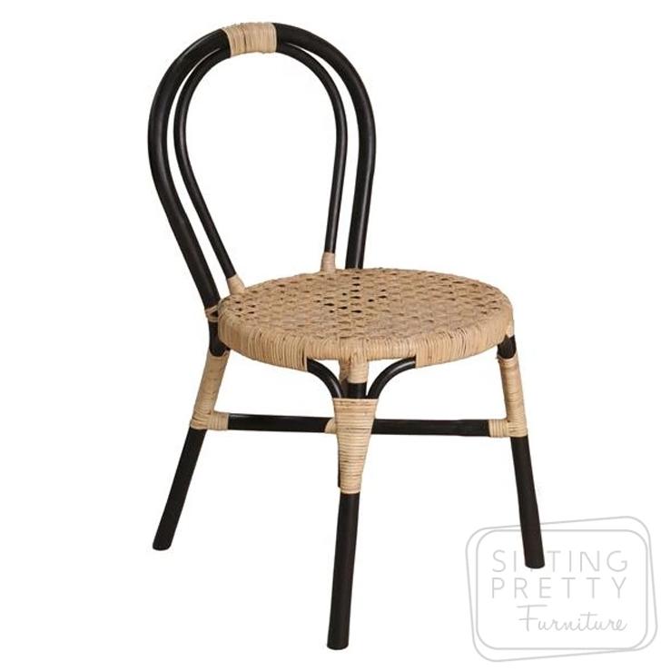 Wasabi Rattan Chair – Black