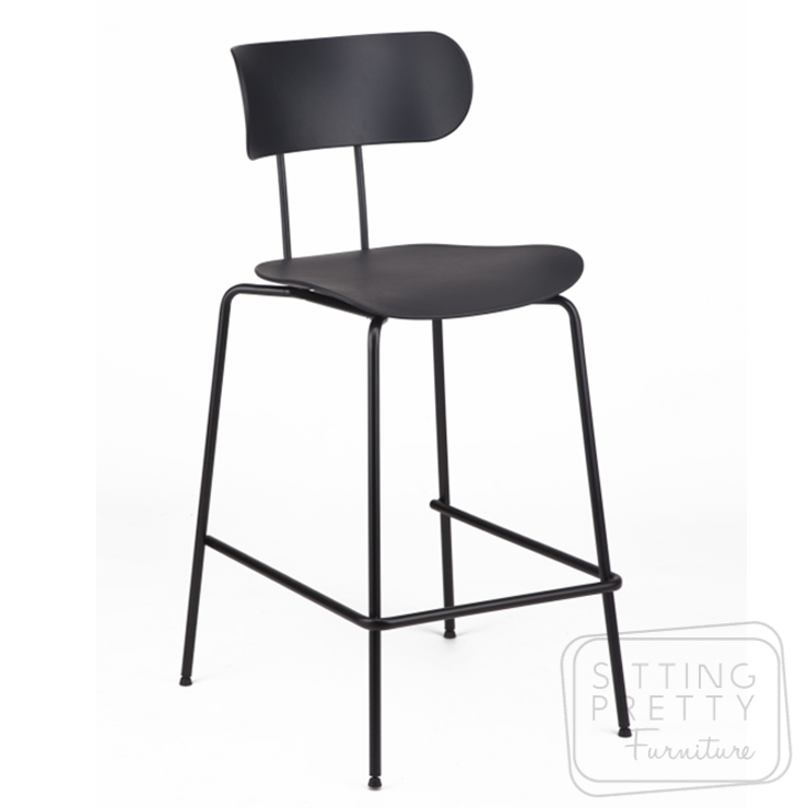 Bowie Counter Stool – Black (65cm Seat Height)