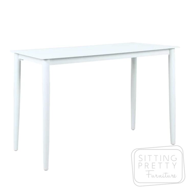 Fountain Bar Table (Matte White) – 145 x 70 x 95cm