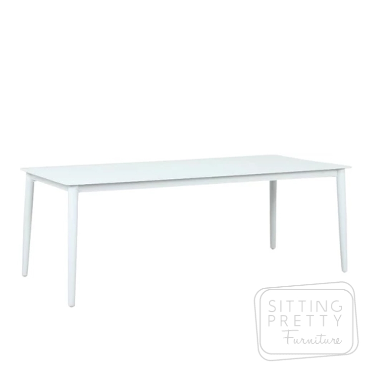 Fountain Dining Table (Matte White) – 210 x 95cm
