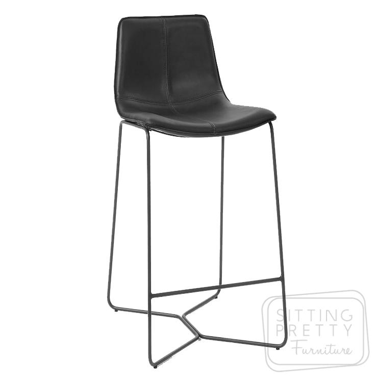 Myles Barstool – Black (75cm seat height)