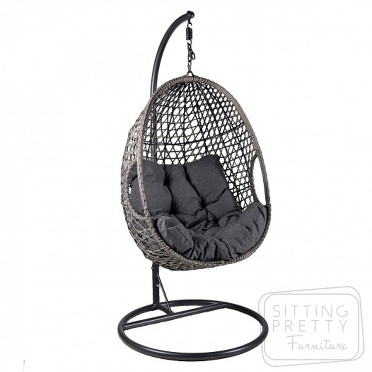 Pod Hanging Chair – Grey – ALMOST GONE