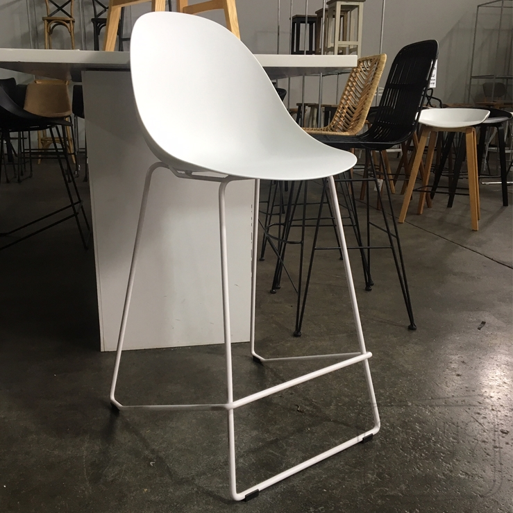 Scoop Counter Stool – White (65cm Seat Height)