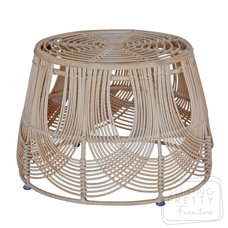 Bell Rattan Coffee Table