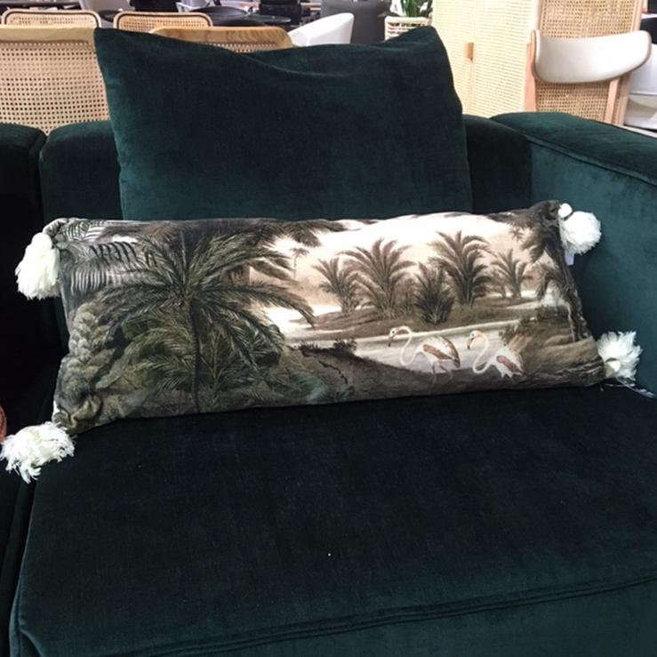 Swan Tassle Cushion – 35 x 80cm