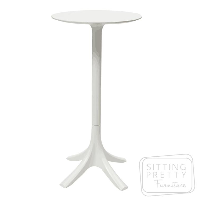Tropic Alfresco Bar Table – White (60cm ø)