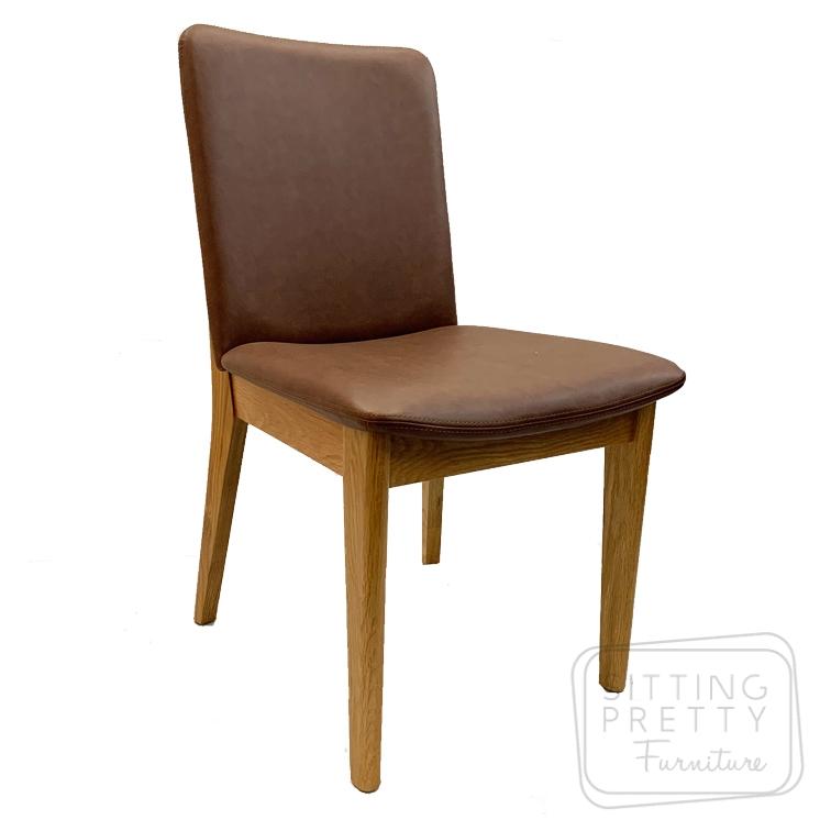 Oslo American Oak Chair – Brown PU